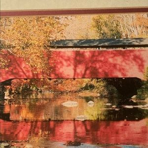 Other - Matted photo of a red covered bridge in Maryland